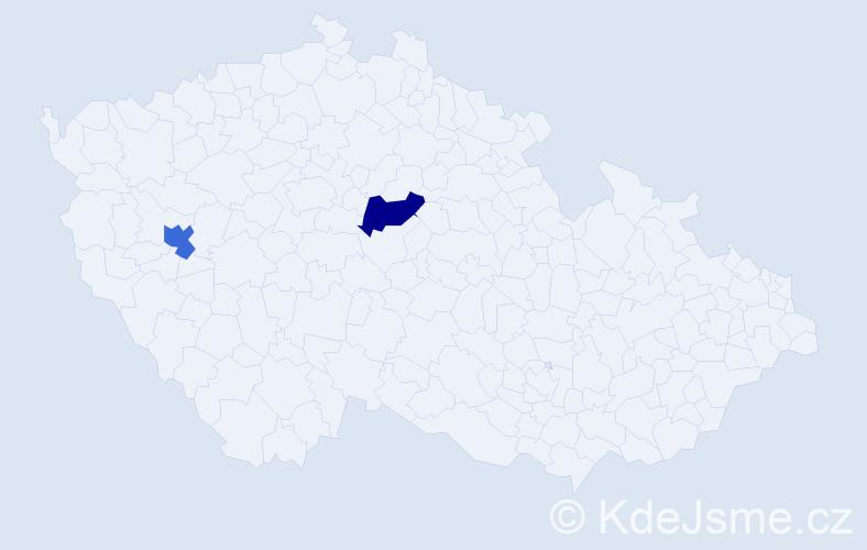 Příjmení: 'Liptai', počet výskytů 2 v celé ČR