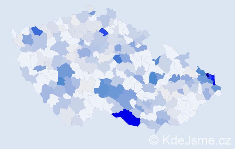 Příjmení: 'Koch', počet výskytů 835 v celé ČR