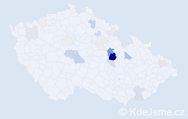 Příjmení: 'Famfulík', počet výskytů 72 v celé ČR