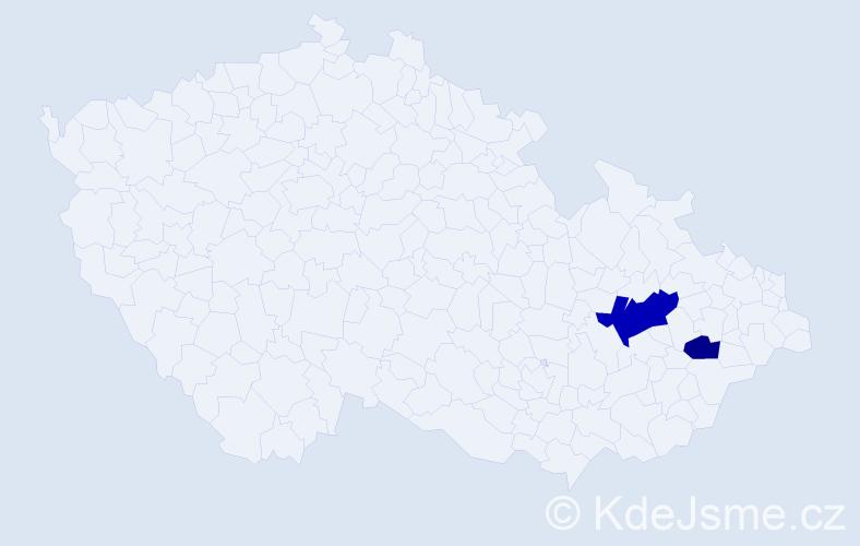 Příjmení: 'Arely', počet výskytů 7 v celé ČR