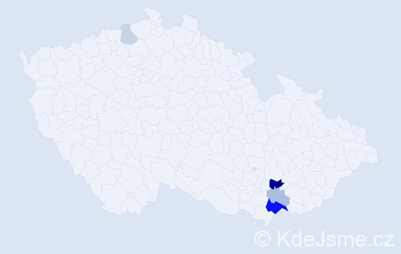 Příjmení: 'Capitová', počet výskytů 10 v celé ČR