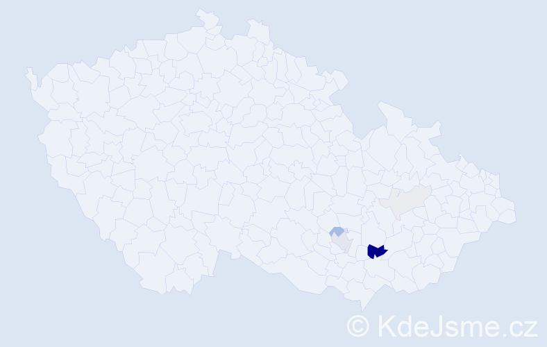 Příjmení: 'Chini', počet výskytů 17 v celé ČR