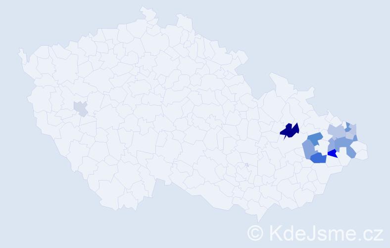 Příjmení: 'Beinsteinová', počet výskytů 23 v celé ČR