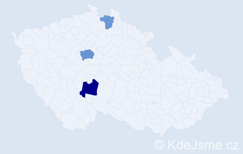 Příjmení: 'Anichobr', počet výskytů 10 v celé ČR