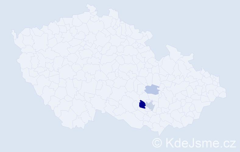 Příjmení: 'Hachler', počet výskytů 8 v celé ČR