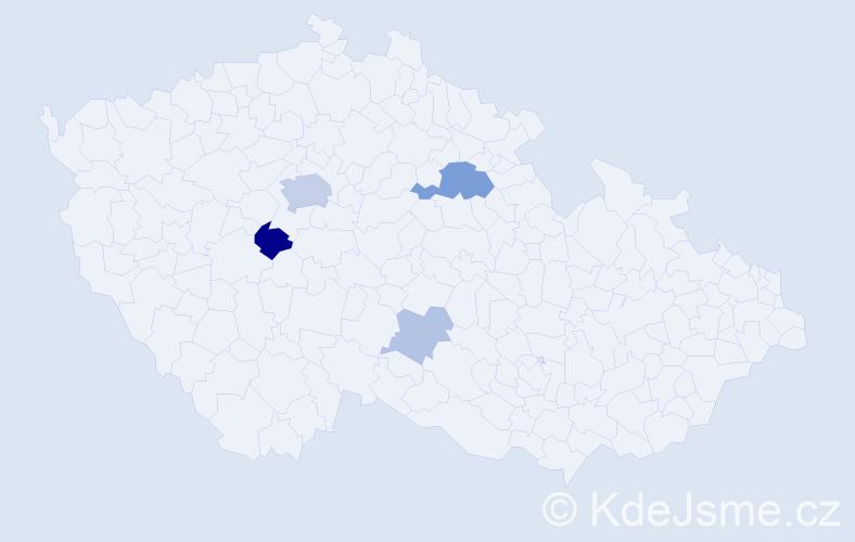 Příjmení: 'Čuga', počet výskytů 12 v celé ČR