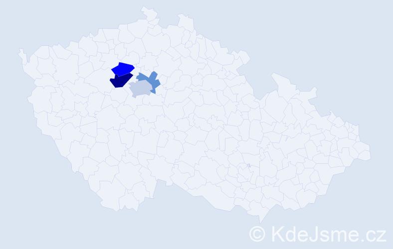 Příjmení: 'Janindová', počet výskytů 7 v celé ČR