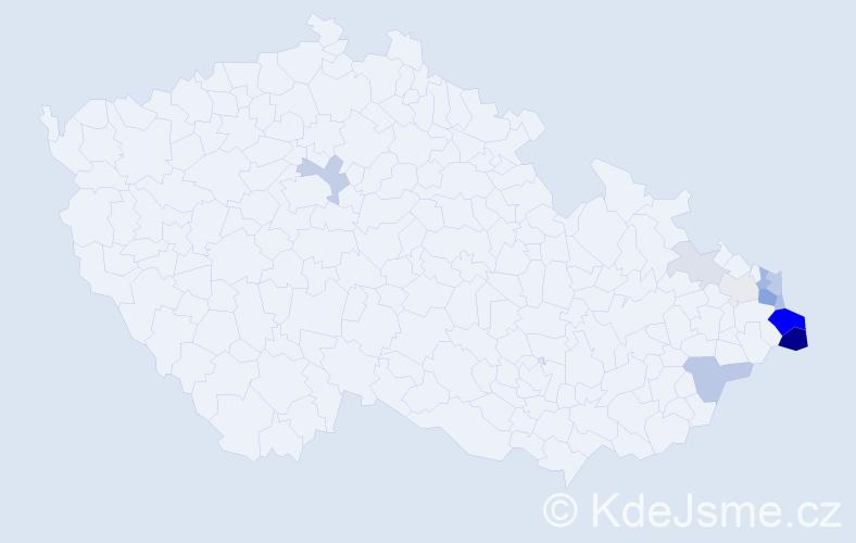 Příjmení: 'Kiedroń', počet výskytů 34 v celé ČR