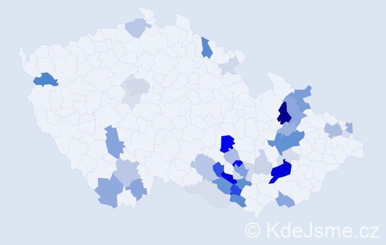 Příjmení: 'Endlicherová', počet výskytů 123 v celé ČR
