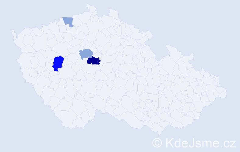Příjmení: 'Kirsová', počet výskytů 14 v celé ČR