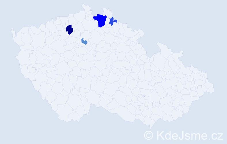 Příjmení: 'Danyluková', počet výskytů 10 v celé ČR