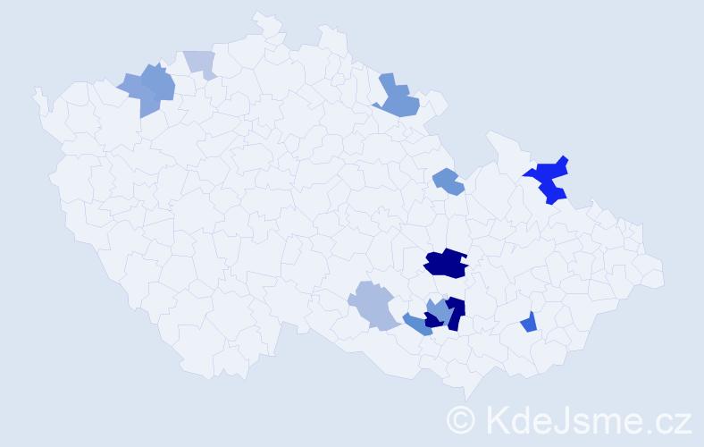 Příjmení: 'Kolbert', počet výskytů 32 v celé ČR