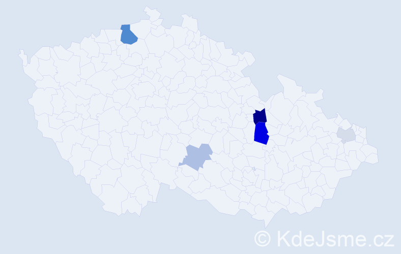 Příjmení: 'Grezl', počet výskytů 10 v celé ČR
