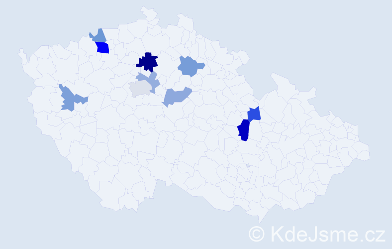 Příjmení: 'Federle', počet výskytů 17 v celé ČR