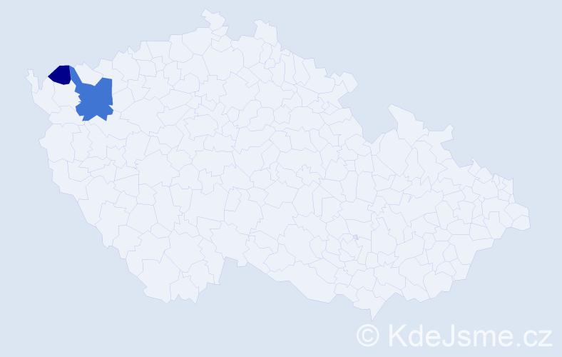 Příjmení: 'Leibeltová', počet výskytů 4 v celé ČR