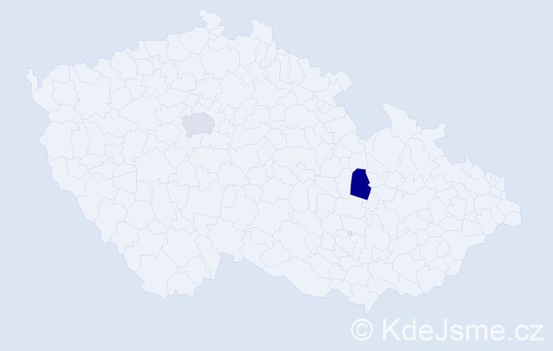 Příjmení: 'Egorov', počet výskytů 2 v celé ČR