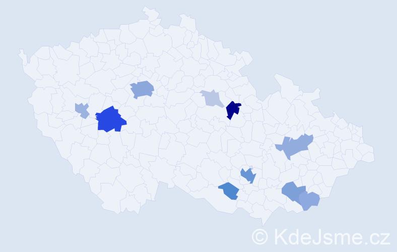 Příjmení: 'Fisher', počet výskytů 37 v celé ČR