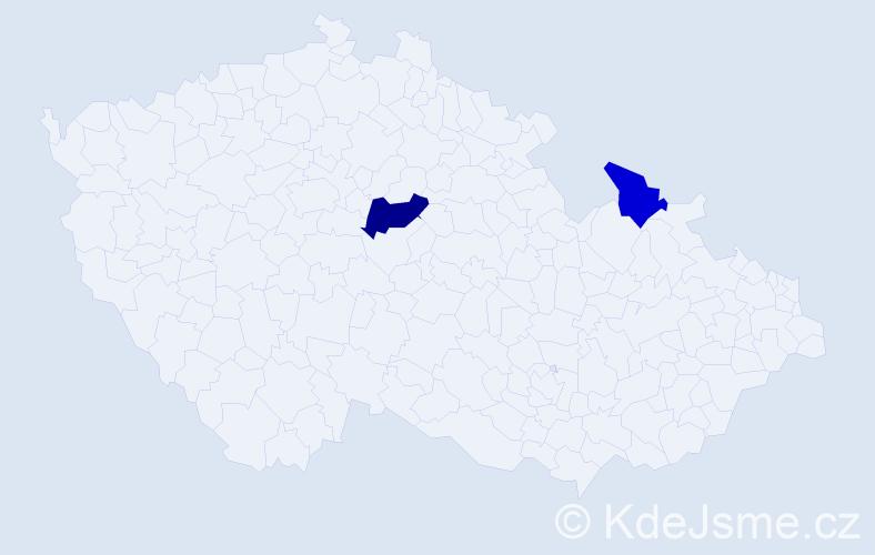 Příjmení: 'Gaboriková', počet výskytů 6 v celé ČR