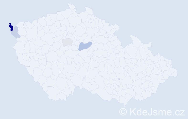 Příjmení: 'Gruša', počet výskytů 11 v celé ČR