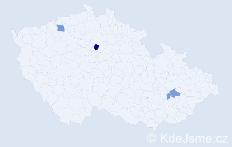 Příjmení: 'Demčuková', počet výskytů 3 v celé ČR