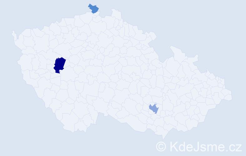 Příjmení: 'Irving', počet výskytů 7 v celé ČR