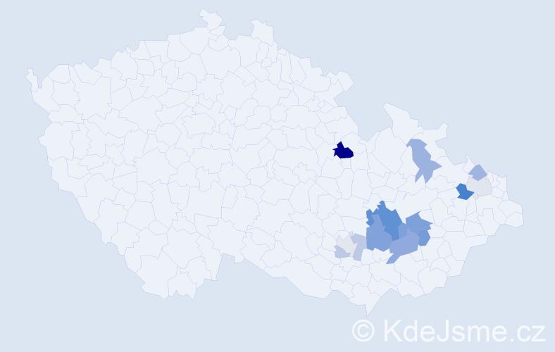 Příjmení: 'Goldemund', počet výskytů 24 v celé ČR