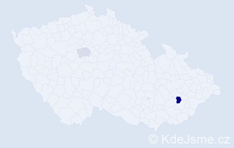 Příjmení: 'Labancz', počet výskytů 8 v celé ČR