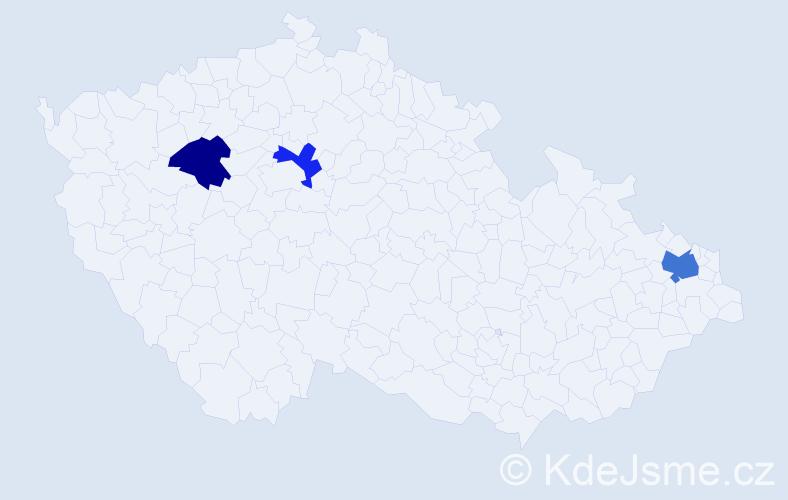 Příjmení: 'Duračinská', počet výskytů 4 v celé ČR