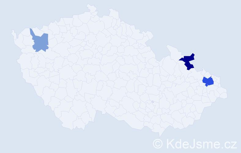 Příjmení: 'Firášková', počet výskytů 9 v celé ČR