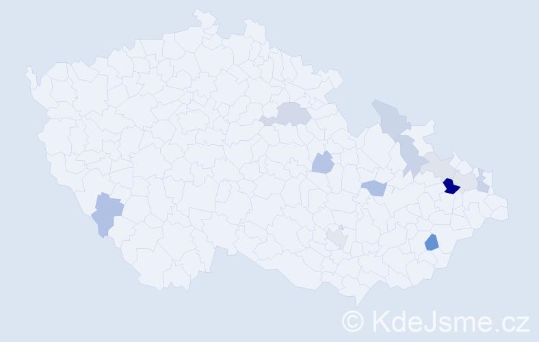 Příjmení: 'Gilg', počet výskytů 25 v celé ČR