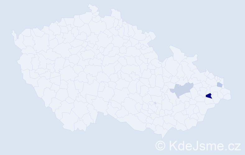 Příjmení: 'Knebelová', počet výskytů 8 v celé ČR