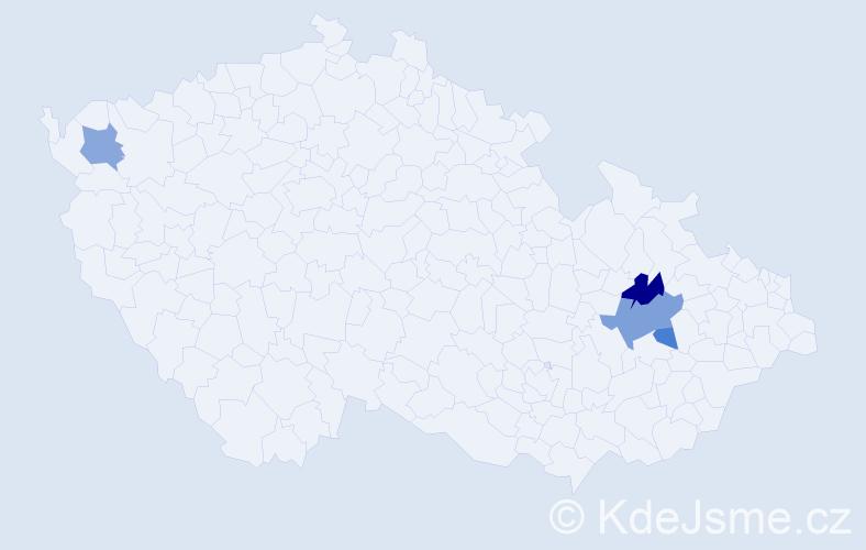 Příjmení: 'Bělajevová', počet výskytů 10 v celé ČR