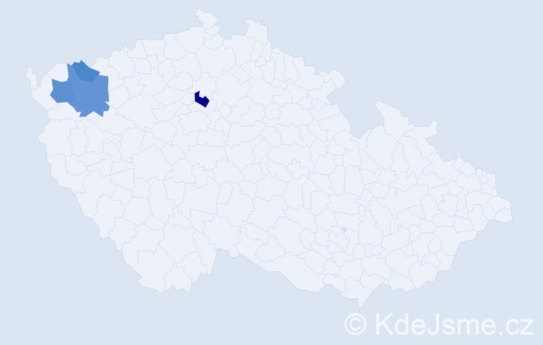 Příjmení: 'Klöcker', počet výskytů 7 v celé ČR