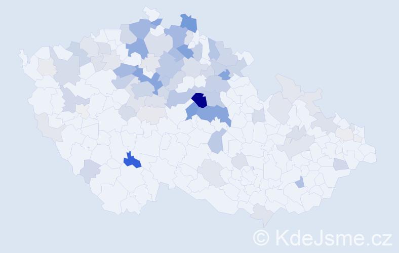 Příjmení: 'Koberová', počet výskytů 308 v celé ČR