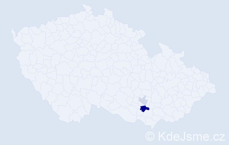 Příjmení: 'Habijanič', počet výskytů 3 v celé ČR
