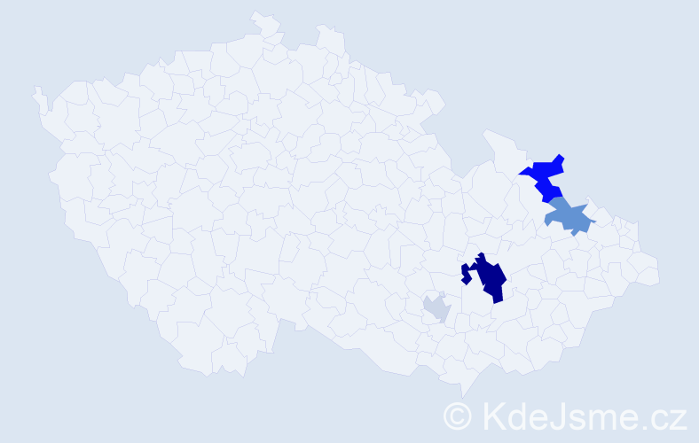Příjmení: 'Hyžďalová', počet výskytů 10 v celé ČR