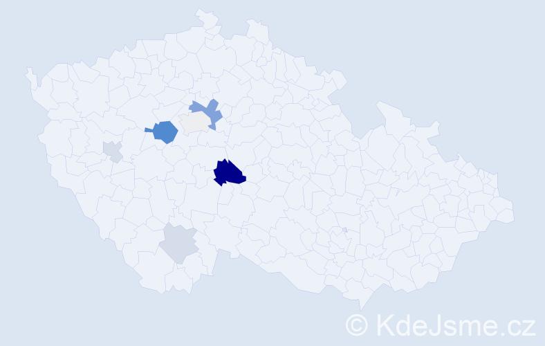 Příjmení: 'Dominguez', počet výskytů 14 v celé ČR