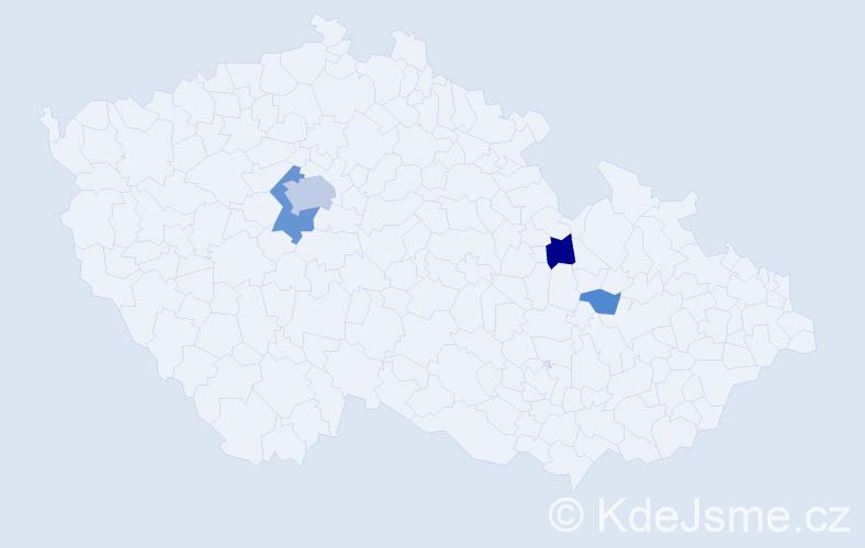 Příjmení: 'Laichter', počet výskytů 12 v celé ČR