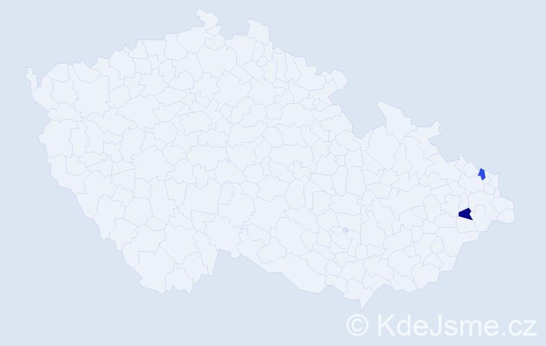 Příjmení: 'Garpielová', počet výskytů 2 v celé ČR