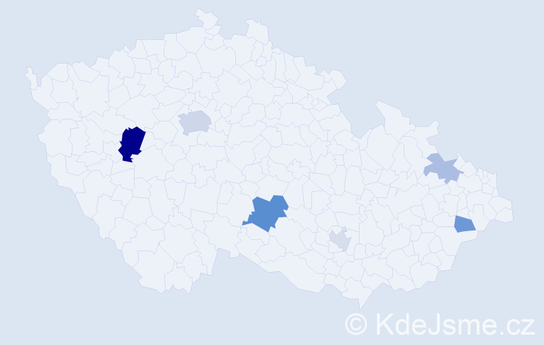 Příjmení: 'Janikovič', počet výskytů 14 v celé ČR