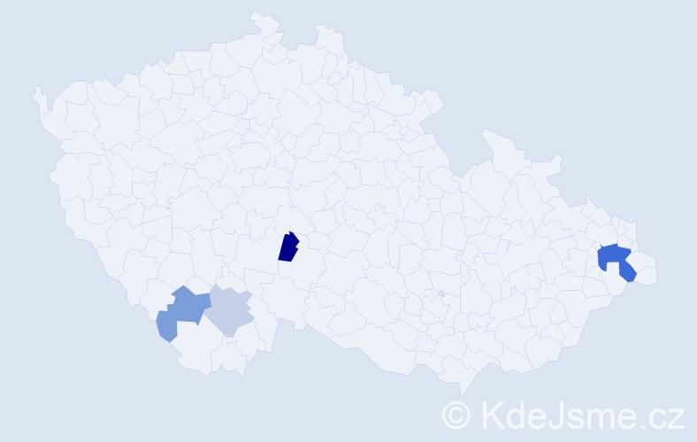 Příjmení: 'Janoviak', počet výskytů 8 v celé ČR