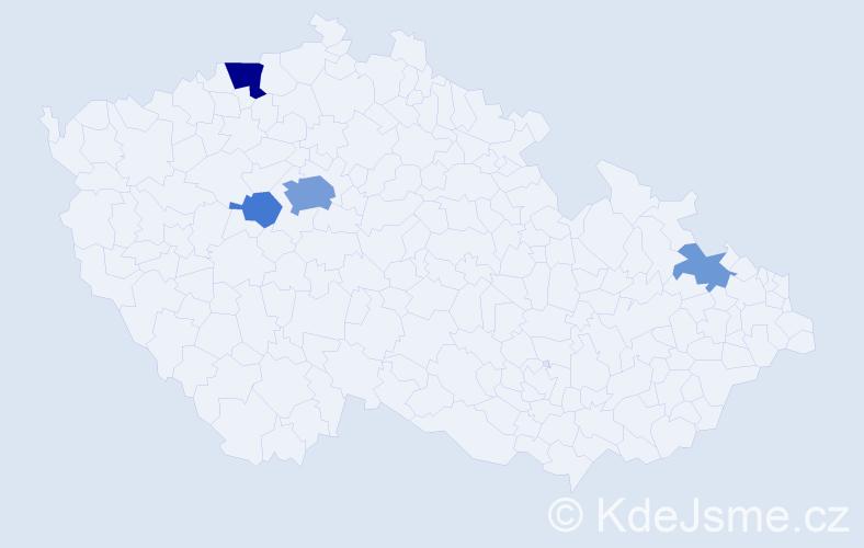 Příjmení: 'Callaghan', počet výskytů 12 v celé ČR