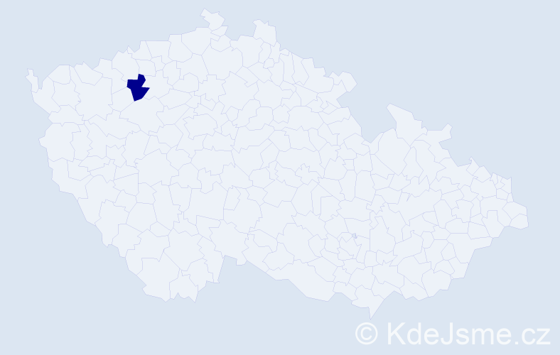"""Příjmení: '""""Lafatová Kotoučková""""', počet výskytů 1 v celé ČR"""
