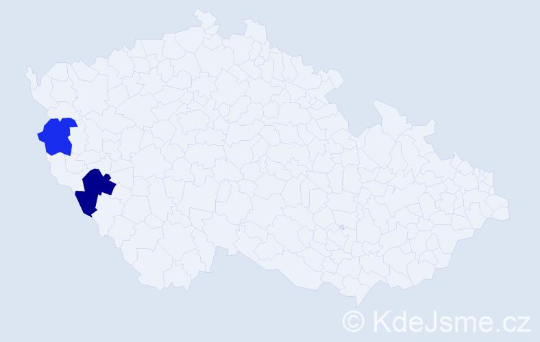 Příjmení: 'Latko', počet výskytů 6 v celé ČR