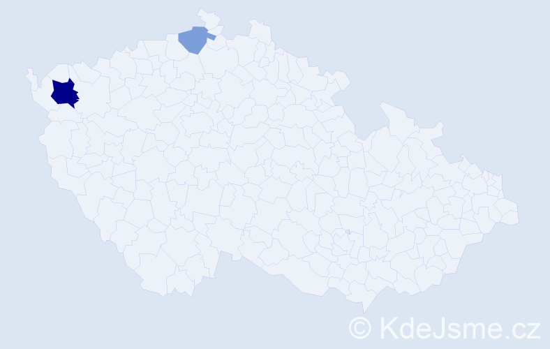 Příjmení: 'Árva', počet výskytů 9 v celé ČR