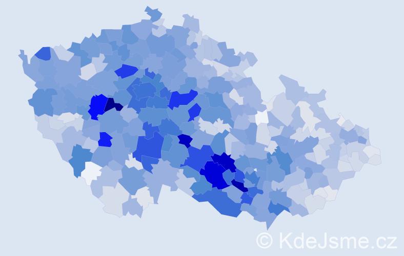 Příjmení: 'Kratochvílová', počet výskytů 7700 v celé ČR