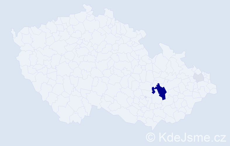 Příjmení: 'Červenobrada', počet výskytů 22 v celé ČR