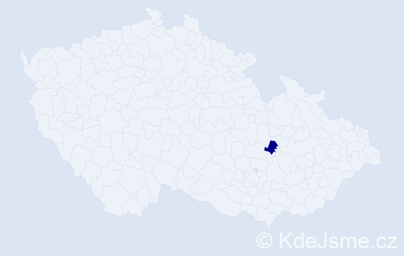Příjmení: 'Glodeková', počet výskytů 1 v celé ČR
