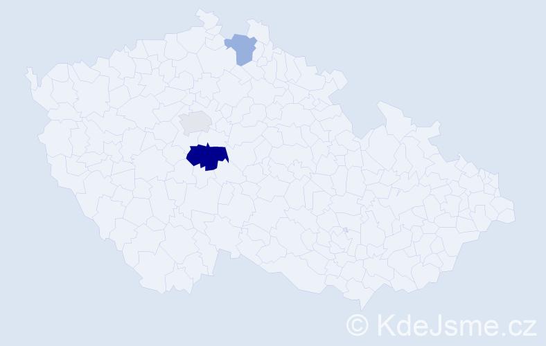 Příjmení: 'Cimmerman', počet výskytů 5 v celé ČR