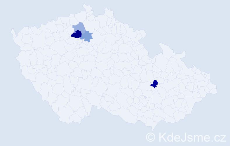 Příjmení: 'Erichová', počet výskytů 6 v celé ČR